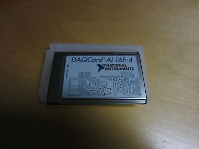 National Instruments NI DAQCard-AI-16E-4 PCMCIA DAQ Card Analogue Input
