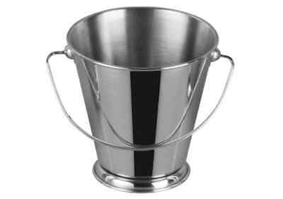 Winco DDSA-104S, 3-Inch Dia Stainless Steel Mini Serving Pail with Handle