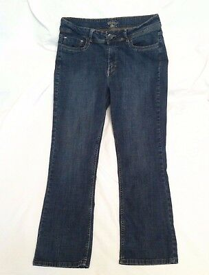 Riders by Lee Blue Denim Jeans Ladies Size 12P Short Stretch Cotton Spandex