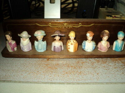 Avon Thimble Set of 8 with Wood Display