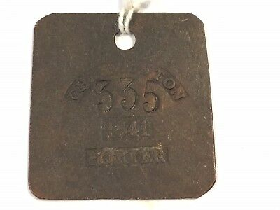 Hire Badge Copper Pre-Civil War Charleston Tag 1841 Porter # 335 Very Rare