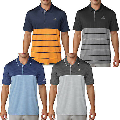 Adidas Mens Golf Ultimate 365 Heather Block Performance Polo Shirt