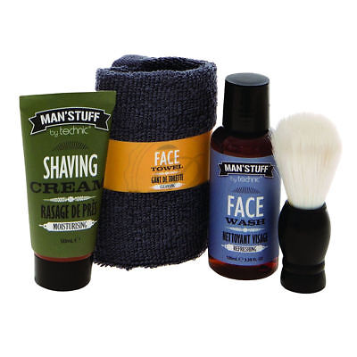Technic Man'Stuff The Man Can - Mens Gift Set Shaving Wash Shower Bath Boys Face