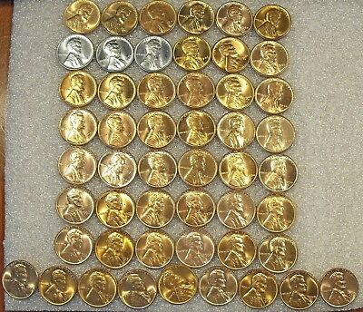 1941 - 1958 CHOICE TO GEM RED BU COMPLETE Lincoln Wheat Cent Set  PLUS BONUS!!!!