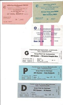 UEFA CUP Ticket Carl Zeiss Jena - Real Madrid 81-82