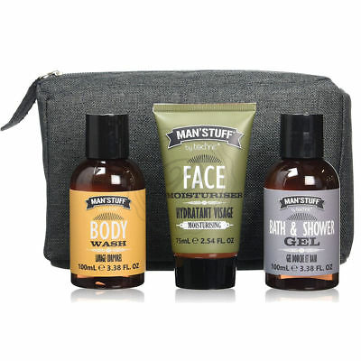 Man'Stuff It's In The Bag - Shower Gel Face Wash Bag Mens Cosmetics Gift Case