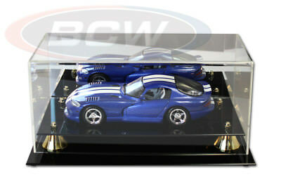 1-18 SCALE MODEL CAR DISPLAY CASE with Mirror Back, Wall mountable