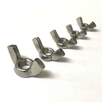 Wing Nuts, A4 Stainless, M4 M5 M6 M8 M10 M12