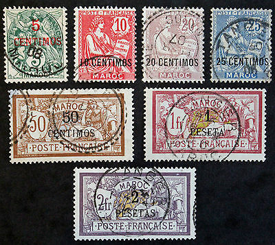 Stamp MOROCCO FRENCH / FRENCH MOROCCO Stamp Yvert n Tellier°11 à 17 Obl (Col3)