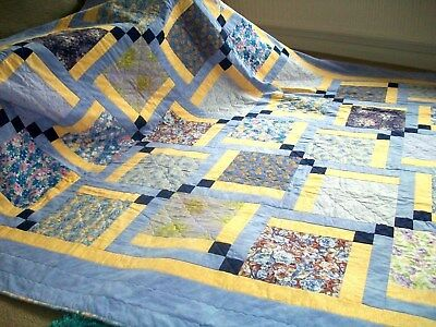 HANDMADE PATCHWORK QUILT  ENTITLED SUMMER ROMANCE  [special price]