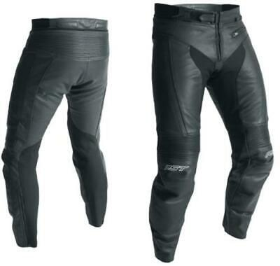 RST 2065 R-18 Leather Motorcycle Trousers Short Leg Black CE Approved