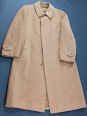 BURBERRYS TRENCH COAT LODEN Made in England Cammello Beige Taglia S M Uomo