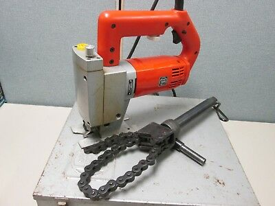 Fein ASte 649-1 Pipe Jigsaw Steel Saw with Pipe Clamp, Case and Blades