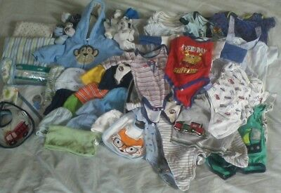 Huge baby boy's newborn infant clothes lot 0-3 months Carter's Fisher Price
