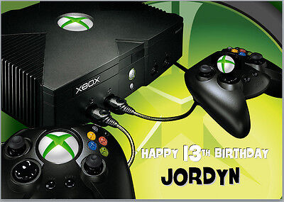 Games Console Controllers Xbox One Birthday Card A5 Personalised With Own Words