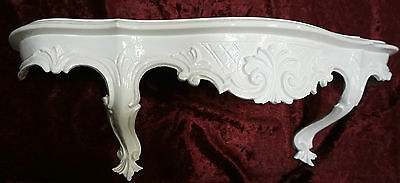 Wall Bracket White Baroque Antique Wall Shelf Dresser Tray 49cm Console Antique