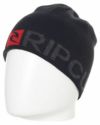 New Rip Curl Men's Rip Revo Beanie Soft Acrylic Black