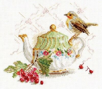 "Counted Cross Stitch Kit ALISA 5-19 - ""Unexpected Guest"""