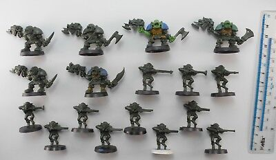 Space Crusade 6 ORKS +11 GRETCHIN Plastic Army Figures 40K 63