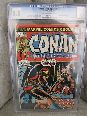 Conan the Barbarian # 23 v.1 CGC 8.5 OWWHITE pgs KEY 1st appearance Red Sonja!