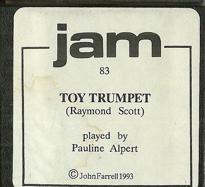 The Toy Trumpet (Ray Scott) played by Pauline Alpert, Jam 83 Piano Roll Original