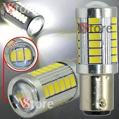 LAMPADA LED Stop Freni BAY15D 1157 P21/5W 33 SMD 5630 CANBUS BIANCO No Errore