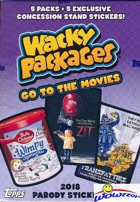 2018 Topps Wacky Packages Go to the Movies EXCLUSIVE Factory Sealed Value Box