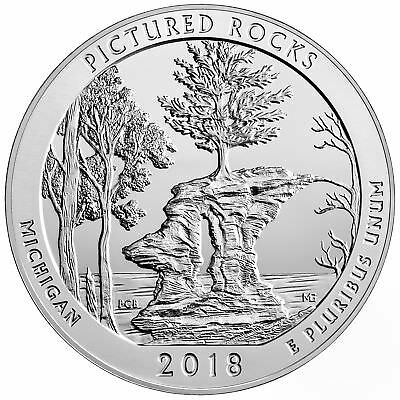 2018 - ATB 5oz Silver Pictured Rocks National Lakeshore Bullion Coin