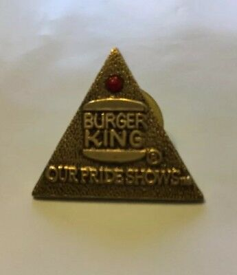 Burger King Lapel Pin Advertising