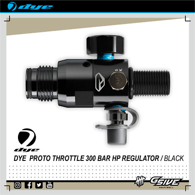DYE Proto Throttle 300bar HP Regulator Paintball NEU OVP schwarz