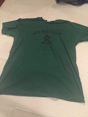 Jameson Irish Whiskey Mens Green T-Shirt. SZ Extra Large. Lightly Used.