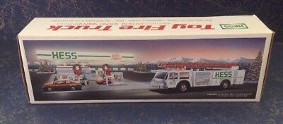 New In Box - 1989 Hess Toy Fire Truck -  Dual Sound Siren