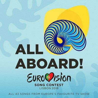 Eurovision Song Contest Lisbon 2018 - All Aboard!  2 Cd New+