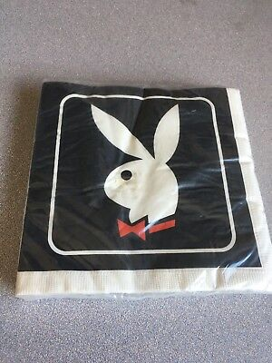 Vintage 80's New Sealed Playboy Bunny Lunch Napkins B-Day Bachelor Parties