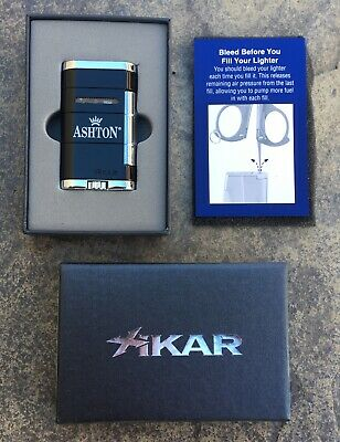 XIKAR Allume Ashton Double Black Tuxedo  / Dual Jet Torch Cigar Lighter 533BK
