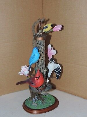 Danbury Mint Birds Figurine Back Yard Splendor Bob Guge