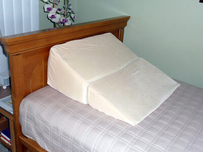 Folding Wedge Foam Pillow with Removable Zipper Cover