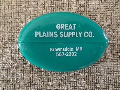 Vintage Rubber Squeeze Coin Holder Great Plains Supply Co. Brownsdale, MN