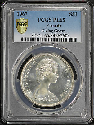 1967 Canada Silver $1 PCGS PL-65 Diving Goose! -168874