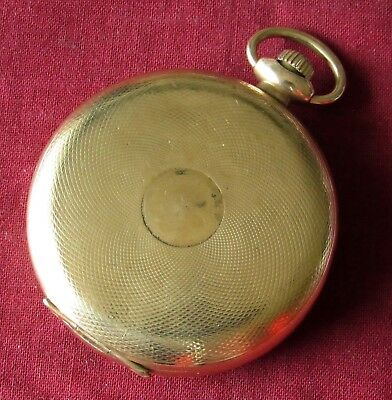 Vintage Elgin Braille Pocket Watch 16 size 17 jewels Gold filled case RUNS