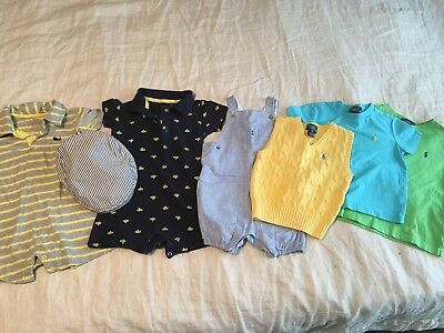 Summer lot boys clothes 18,18-24,24/2T Janie and Jack Ralph Lauren Polo Carters