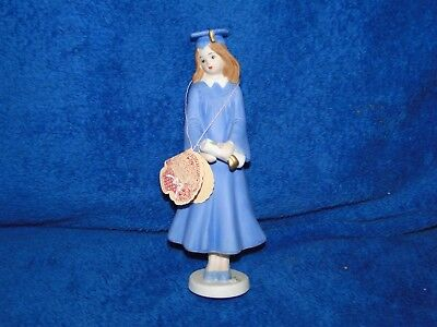 New Enesco Growing up Girls - Brunette Graduation Figurine