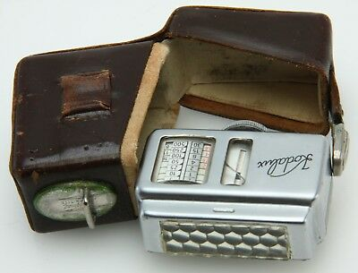 Kodalux shoe mount Exposure Meter W/Original Case Germany for Kodak A.G. 368297
