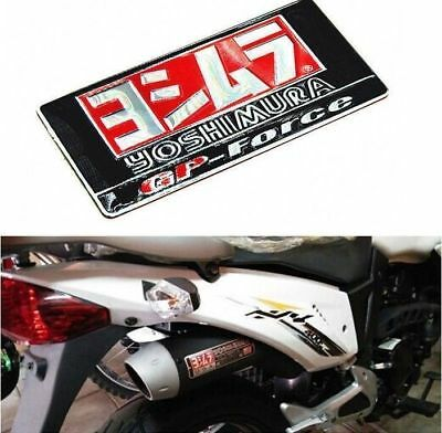 2PCS 3D Motorcycle Exhaust Pipe Heat Resistant 40MM Yoshimura Sticker Badge