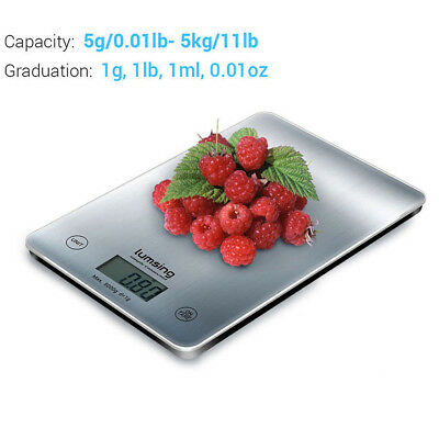 5Kg/11lbs LCD Digital Kitchen Scale Weight Balance New Meat Food Diet postal US