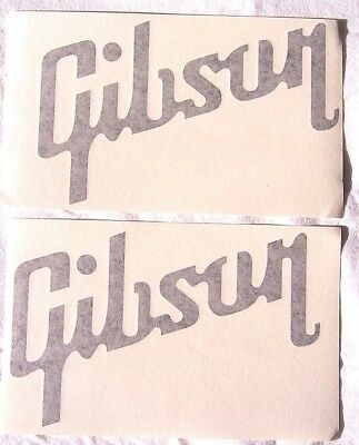 GIBSON - Vinyl Decals/Stickers, Lot of Two, Black Letters- Brand New!