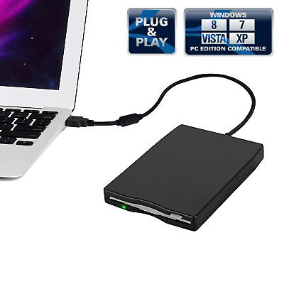 "Premium H FDD 3.5""External 1.44MB USB Floppy Disk Drive For Laptop Windows Mac"