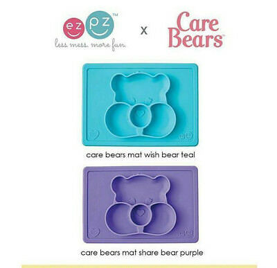 EZPZ Care Bears Placemat & Bowl in One - Choose Colour -  Travel Baby