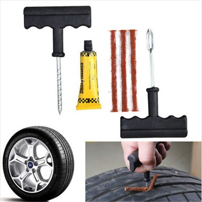Car Auto Tubeless Tyre Puncture Plug Tire Repair Motorcycle Cement Tool Kit TOP
