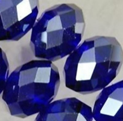 Wholesale Faceted Blue Rondelle glass Crystal Beads 70pcs 6*8mm